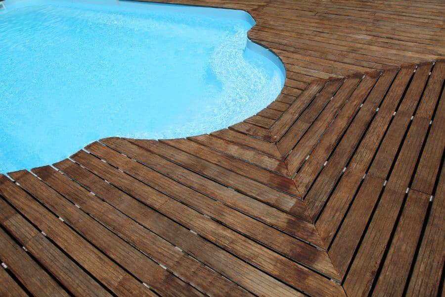 Wood Pool Deck Ideas 10