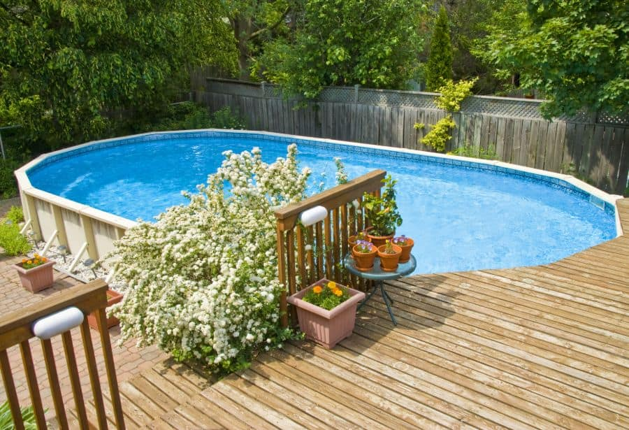 Wood Pool Deck Ideas 11
