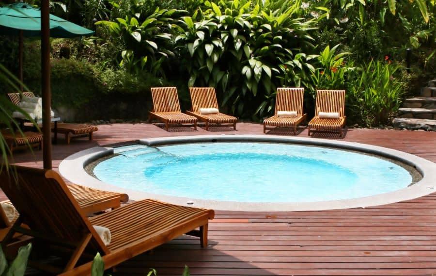Wood Pool Deck Ideas 17