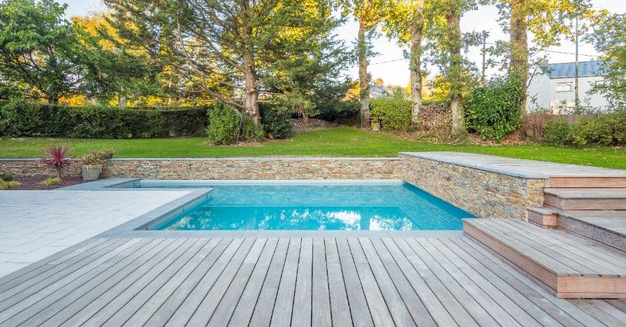 Wood Pool Deck Ideas 18