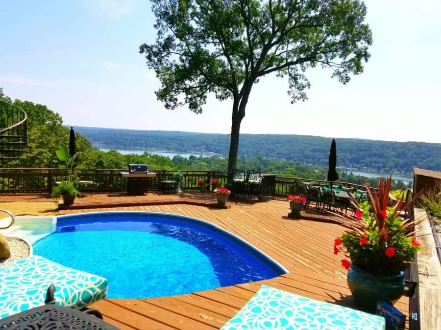 Wood Pool Deck Ideas 20