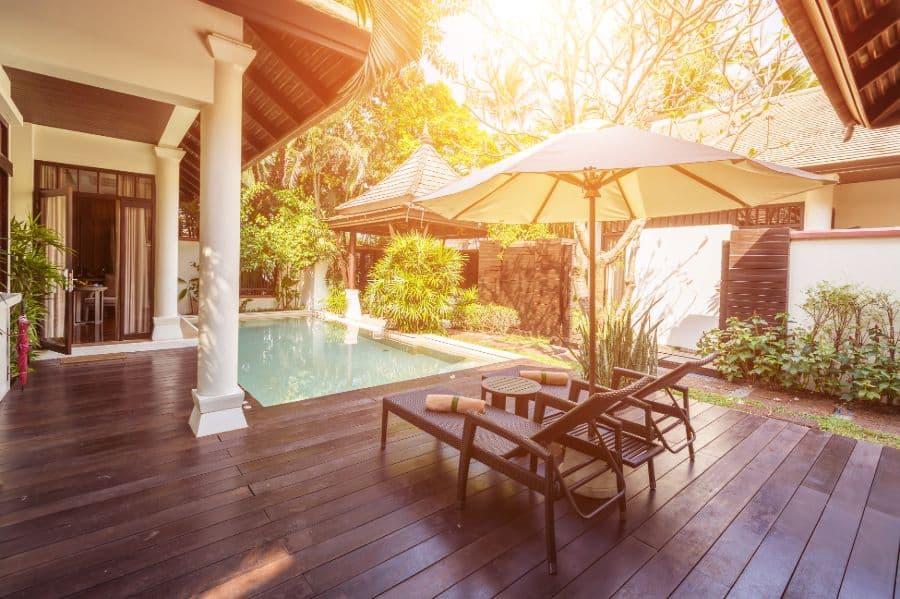 Wood Pool Deck Ideas 22