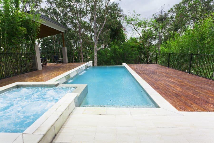 Wood Pool Deck Ideas 7