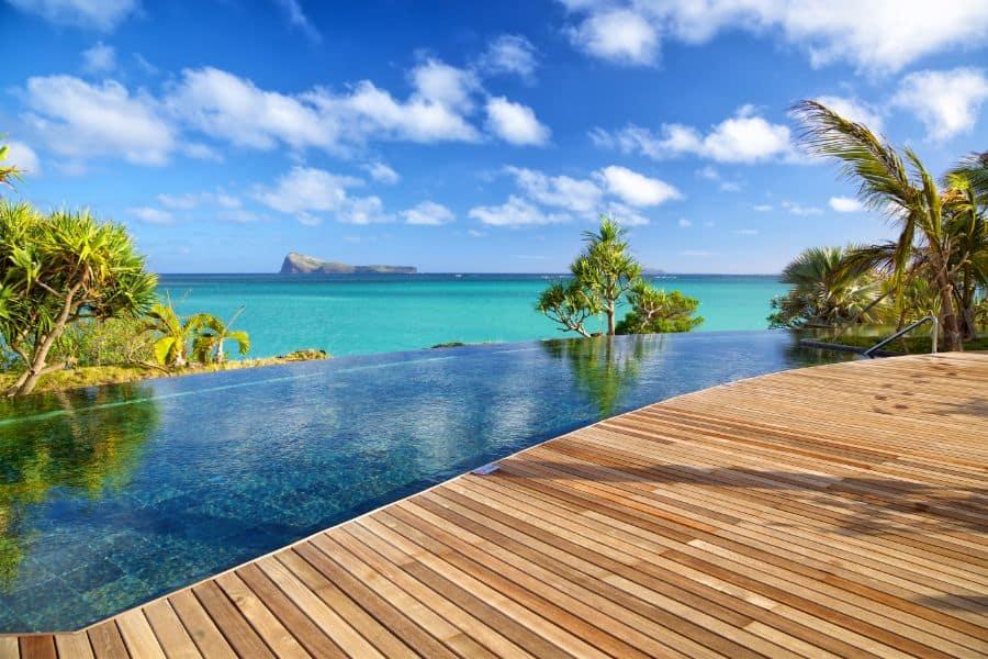 Wood Pool Deck Ideas 9