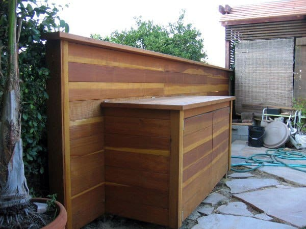 Wood Pool Equipment Enclosure Ideas