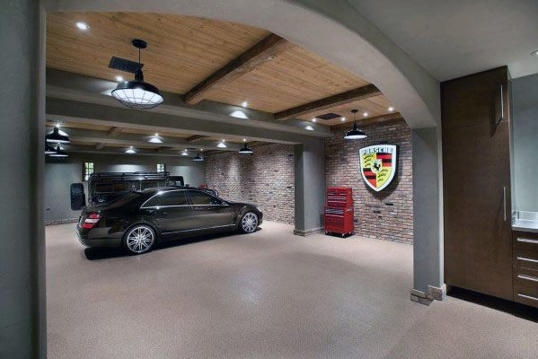 Wood Rustic Garage Ceiling Ideas