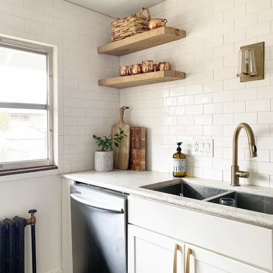 wood shelves kitchen shelving ideas lovebluehouse