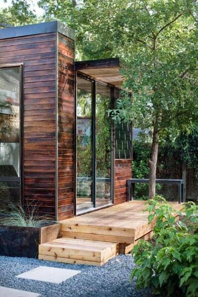 Wood Siding Contemporary Backyard Shed Home Ideas
