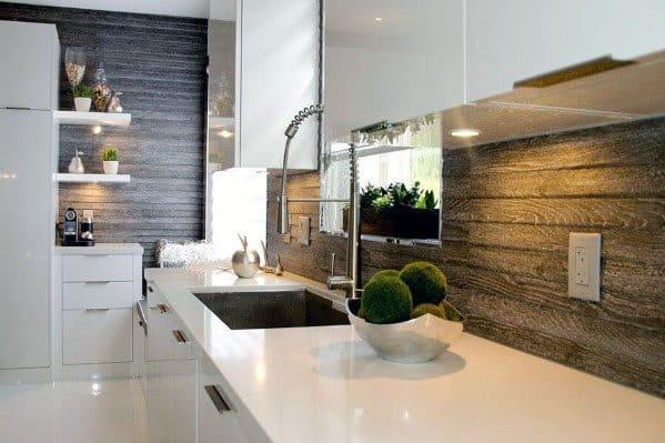 Wood Tile Backsplash Kitchen - Robotena
