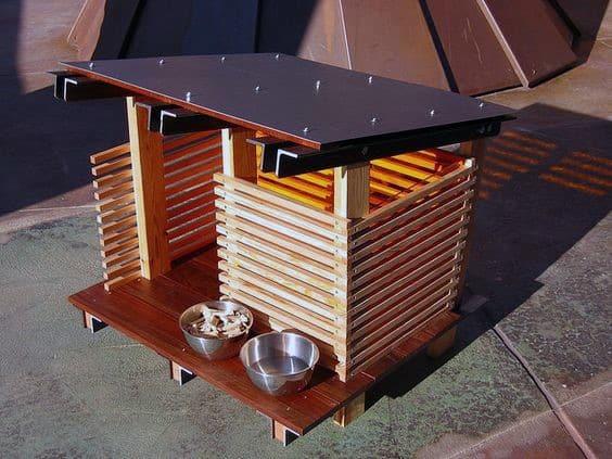 Wood Slats Simple Modern Cool Dog Houses