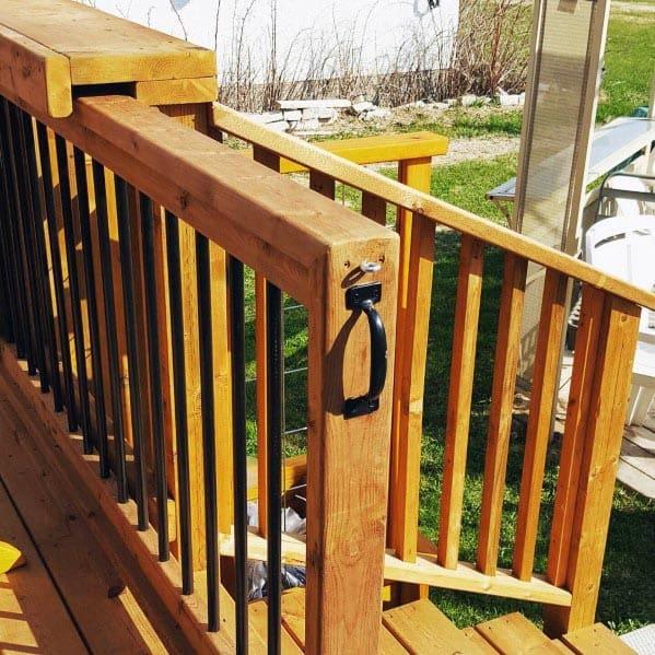 Top 50 Best Deck Gate Ideas - Backyard