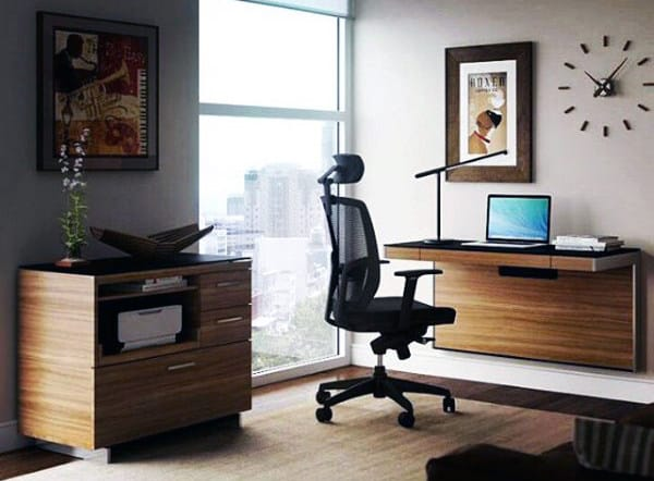 Wood Small Home Office Ideas