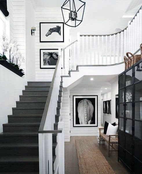 Wood Staircase Traditional Contemporary Home Ideas