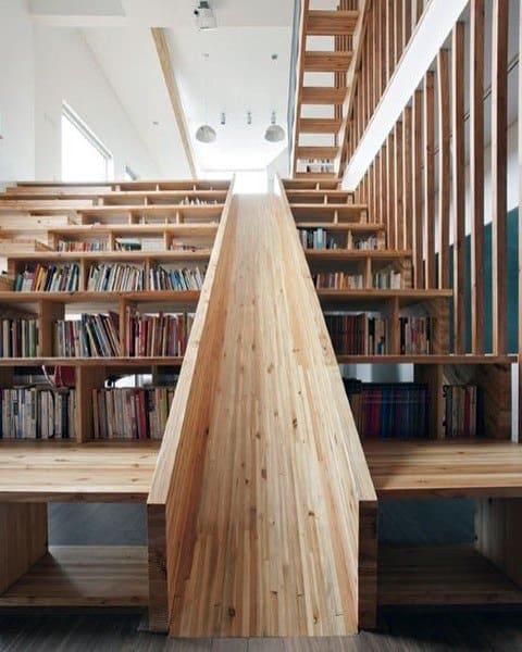 Wood Stairs Indoor Slide Ideas