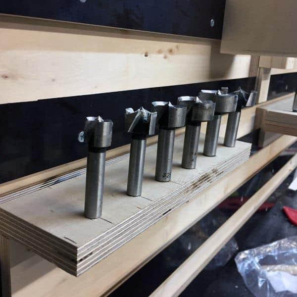Wood Tool Storage Ideas Router Bit Organizer