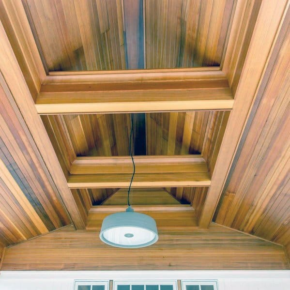 Wood Vaulted Porch Ceiling Spectacular Ideas