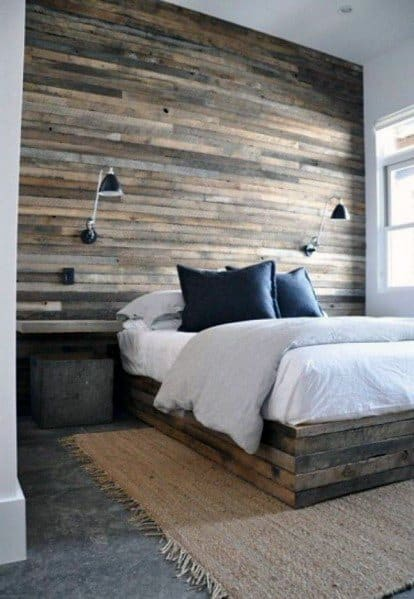 Wood Wall Ideas Rustic Bedrooms