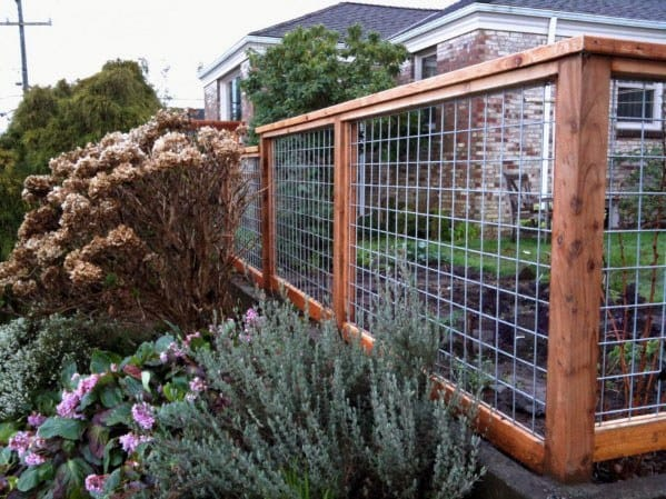 Wood Wire Modern Dog Fence Home Ideas