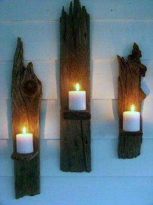 Wood With Candles Guys Bachelor Pad Wall Art Designs