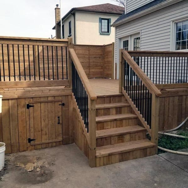 Wood With Gate Deck Skirting Ideas
