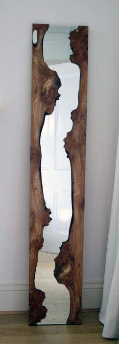 Wood With Mirror Bachelor Pad Decor For Men