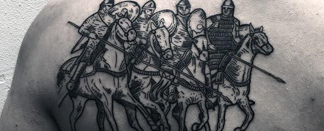 Woodcut Tattoo Designs For Men