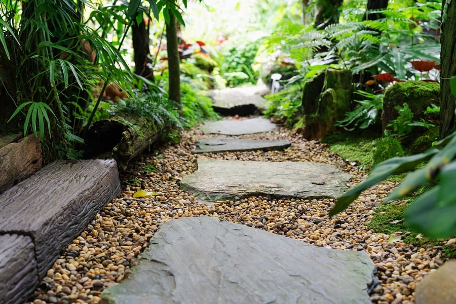 Stones Over Pond Walkway Ideas