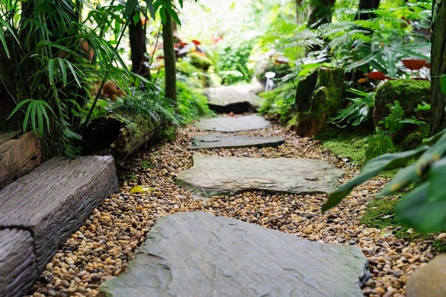 Stones Over Pond Walkway Ideas