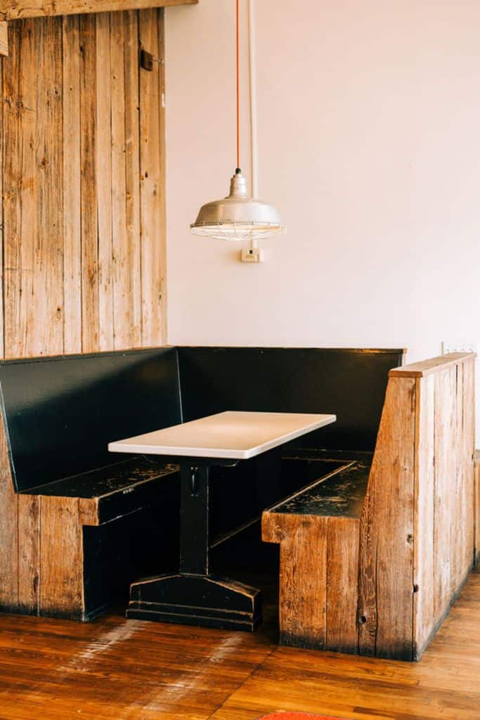 Wooden Banquette Seating 1