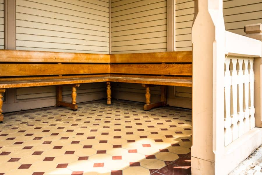 Wooden Banquette Seating 2