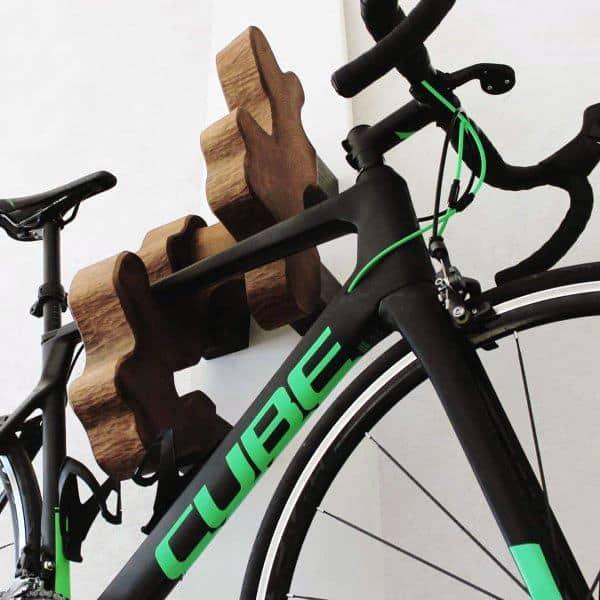 Wooden Blocks Bicycle Storage Ideas