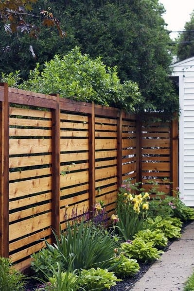 Wooden Fence Cool Backyard Ideas