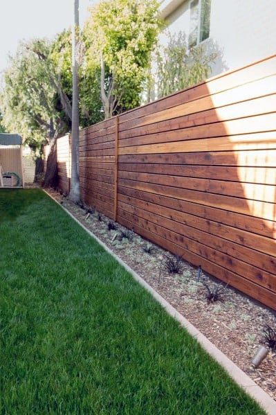 Wooden Fence Home Designs