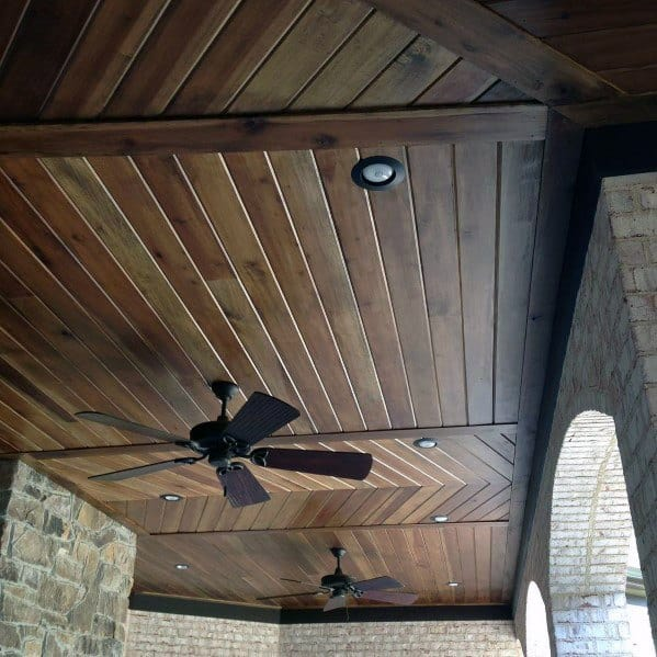 Wooden Porch Ceiling Ideas