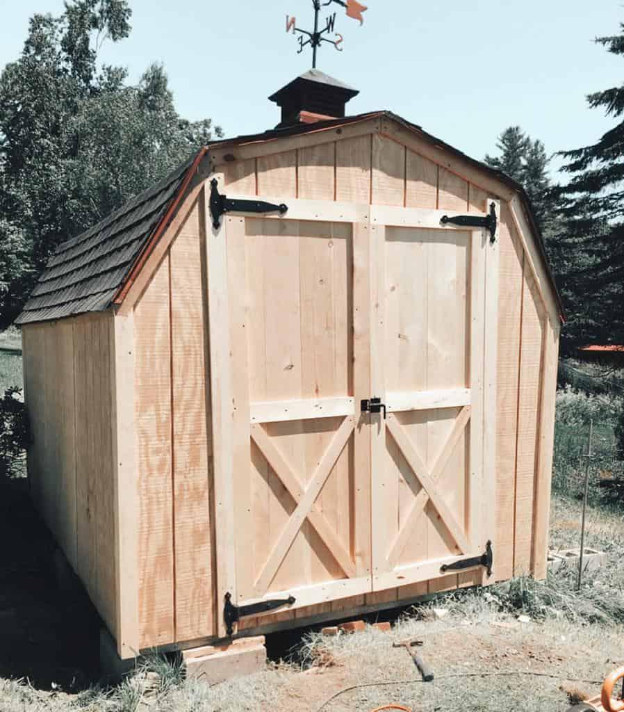 wooden shed door ideas amb_customdesigns