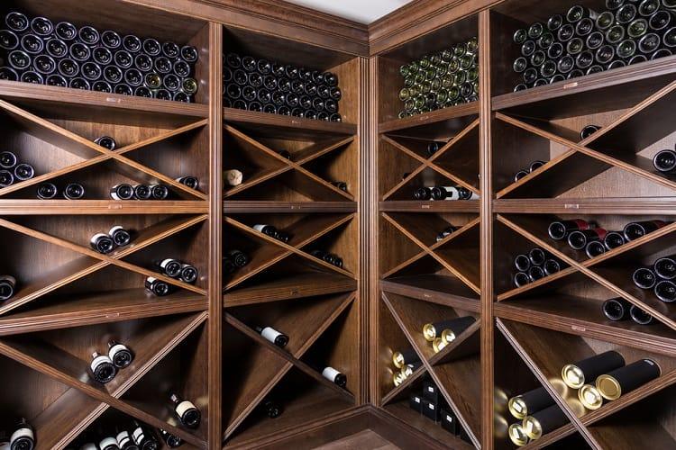Wooden Shelves Wine Cellar Basement Storage