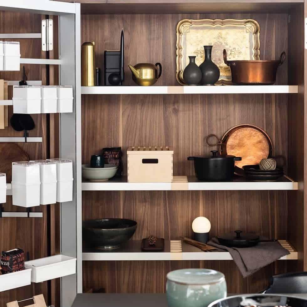 wooden small pantry ideas spaziomateriae