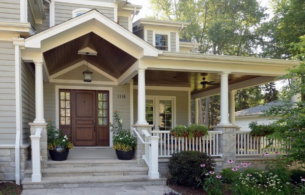 Wooden Traditional Porch Ceiling Design Ideas