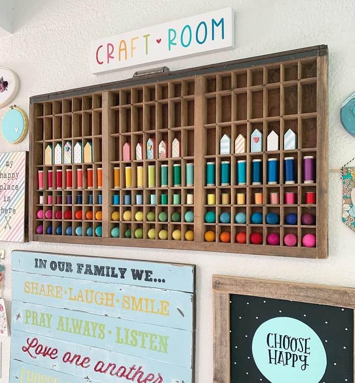Wooden Wall Shelves Craft Room