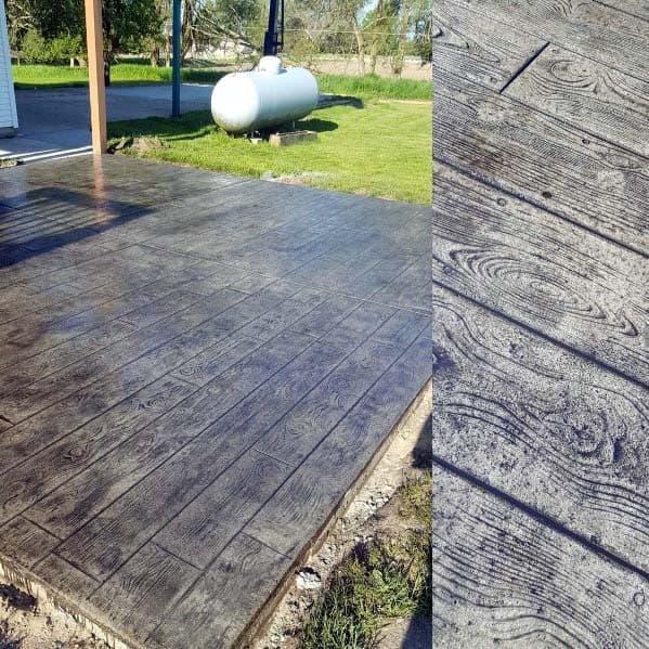 Woodgrain Detail Remarkable Ideas For Stamped Concrete Patio