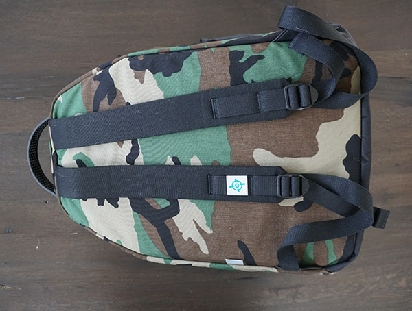 Woodland Camo Blue Force Gear Tracer Pack Back
