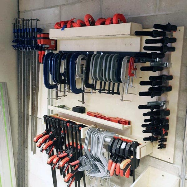 Woodworking Clamps Tool Storage Ideas