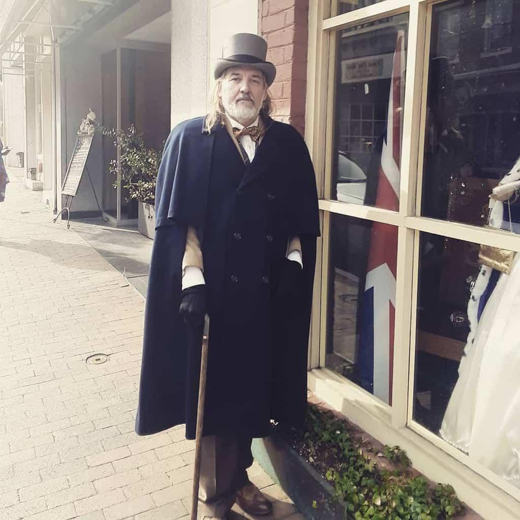 Wool Cape Victorian Suit