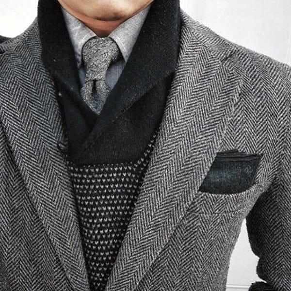 Wool Gentlemens Grey Suit Style Ideas