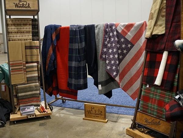 Woolrich Outdoor Retailer Winter Market 2018 Blanket Display