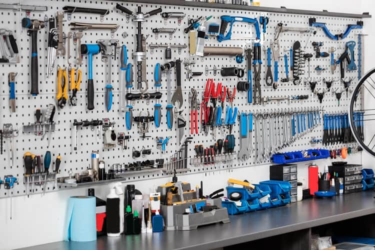 Workshop Tools Garage Pegboard Ideas