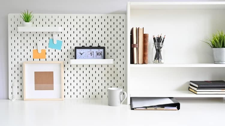 Workspace Home Office Pegboard Ideas