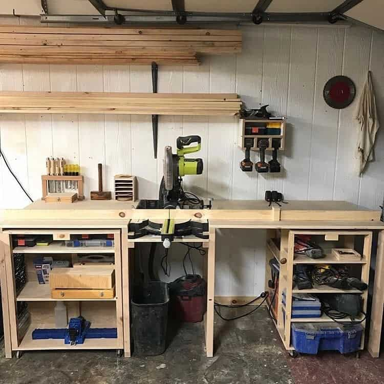 Worktable Carts Garage Workbench Shelving Wilee Woodworks