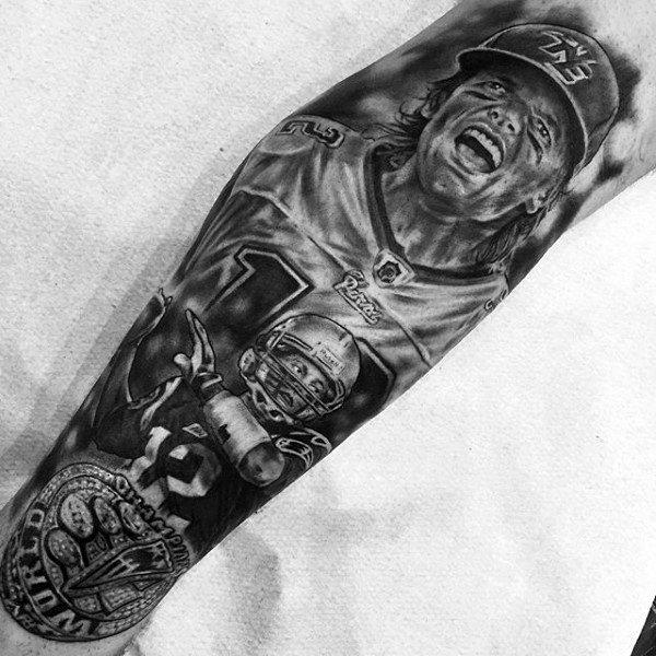 World Champions Mens Football Sleeve Tattoos