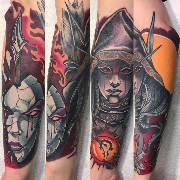 World Of Warcraft Themed Tattoo Ideas For Men